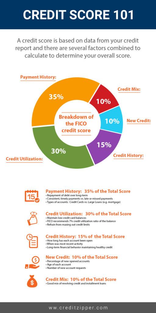 Credit Score 101 Infographic